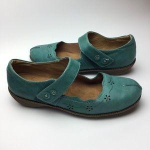KUBO Nellie Orthotic Mary Jane Shoes 41 Teal 10 US